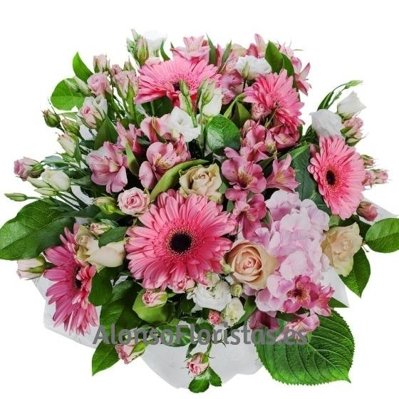 Ramo Flores tonos Rosados