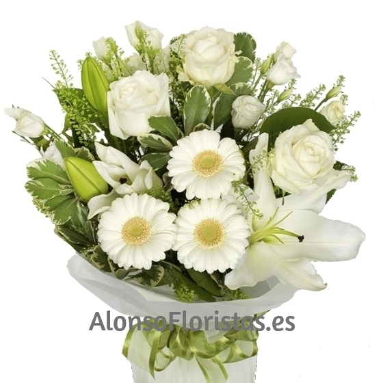 Bouquet Variado tonos Blancos