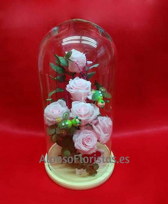 Cúpula con rosas decoradas